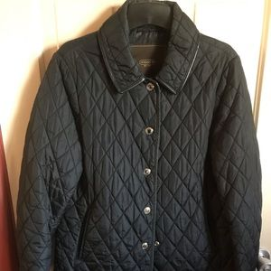 Black Coach quilted jacket women's size medium